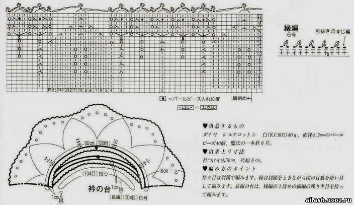 Вязание спицами кокетка с листочками 955